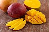Mango; Whole, Sliced and Diced