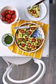 Ricotta bake with courgette and tomatoes