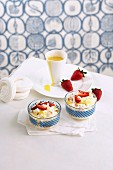 Eton Mess with lemon curd and strawberries