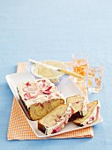 Rhubarb marble cake with buttercream