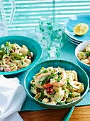 Noodle salad with king prawns