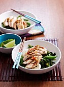 Sweet, spicy chicken with vegetables (Asia)