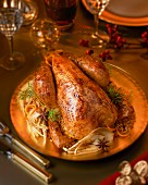 Roast capon with fennel and star anise