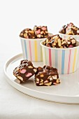 Rocky road fudge (chocolate fudge with marshmallows)