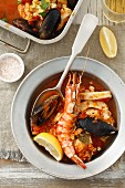 Zarzuela (seafood stew, Spain)