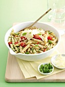 Penne with tomatoes and white beans