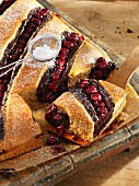 Nut and cherry cakes