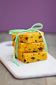Pumpkin cake with chocolate chips