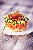 Tabbouleh with tomatoes, courgette and ham