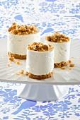 Quark dessert with crumble