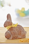 Sponge cake shaped like a rabbit