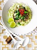 Chicken larb (chicken salad, Thailand)