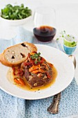 Osso Buco Lamb with Sun-dried Tomatoes and Bread