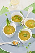 Lemony Spring Soup with Peas and Asparagus