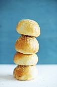 A stack of sesame rolls