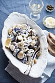 Potato salad with capers and lemon