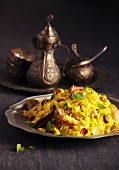 Pilau with cinnamon and almonds (North Africa)