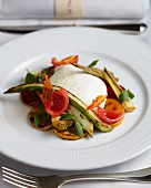 Burrata with chargrilled vegetables