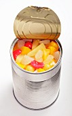 Fruit salad in the tin