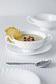 Jerusalem artichoke soup with parmesan crisp