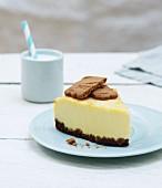 A slice of cheesecake (Liège, Belgium)