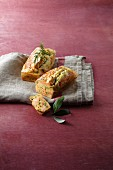 Savoury cakes with salmon