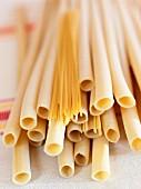 Röhrennudeln & Spaghetti (Nahaufnahme)