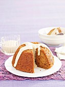 Gingerbread pudding with spiced vanilla custard