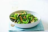 Zucchini and snow pea saute