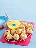 Mini passionfruit donuts