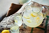 Lemonade in a Pitcher and Mason Jars
