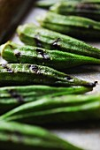 Grilled Okra; Close Up