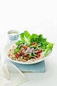 Thai chicken and noodle salad