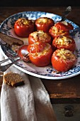 Tomatoes stuffed with vegetable ragout