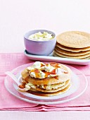 Pancakes with nut butter