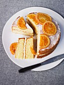 Victoria Sponge cake with oranges