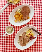 Prime boiled veal and beef