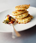 Tofu burgers with Mediterranean vegetables
