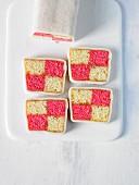 Battenberg cake (sponge cake with marzipan, England)
