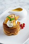 Apple timbale with maple syrup