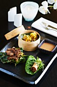 Assorted duck dishes from Asia