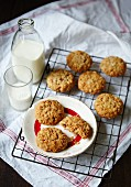 Anzac biscuits and milk (Australia)