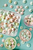Pastel coloured meringue dots