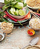 Ingredients for a noodle dish, Indonesia