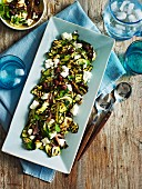 Grilled zucchini salad with anchovy dressing