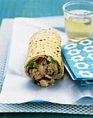 Waldorf tuna-salad wrap
