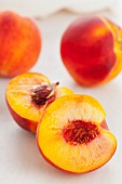 Peaches, whole and halved