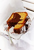 A slice of marble cake