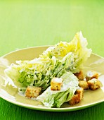 Iceberg lettuce with croutons