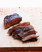Sirloin steak, sliced